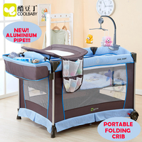 Multi functional Folding Baby Bed Portable Baby Crib Game Bed Child bed Baby Cradle Bed New Fashion Light Weight Aluminium Pipe
