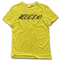 CHI Men S T Shirt Hello 100 Cotton Printed Hip Hop Tshirt Men 2017 High Quality