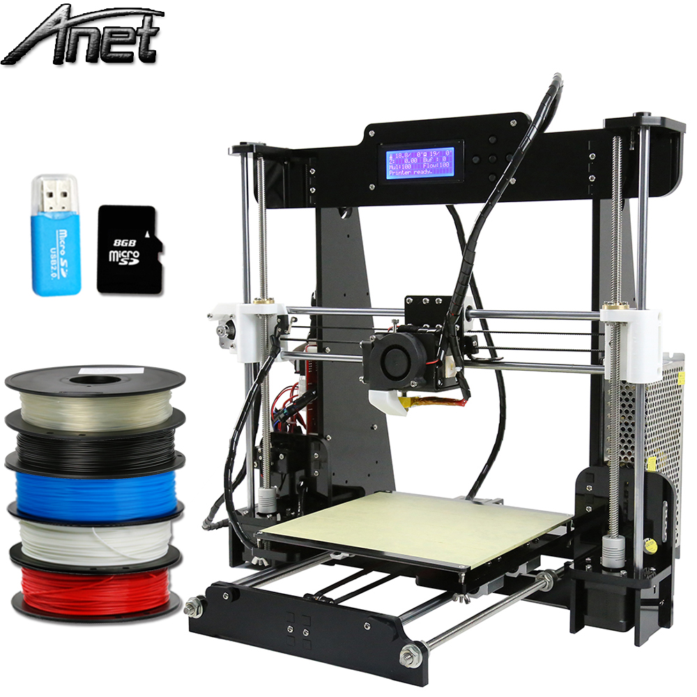 Anet A8 Large Printing Size Precision Reprap Prusa i3 DIY 3D Printer kit with Filament Card