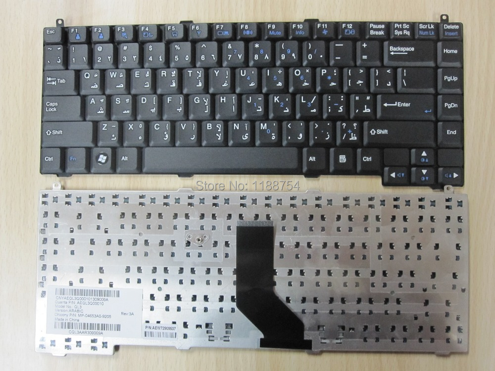 Brand New laptop keyboard For LG R48 R410 R460 R480 P810 ARABIC version BLACK Replacement