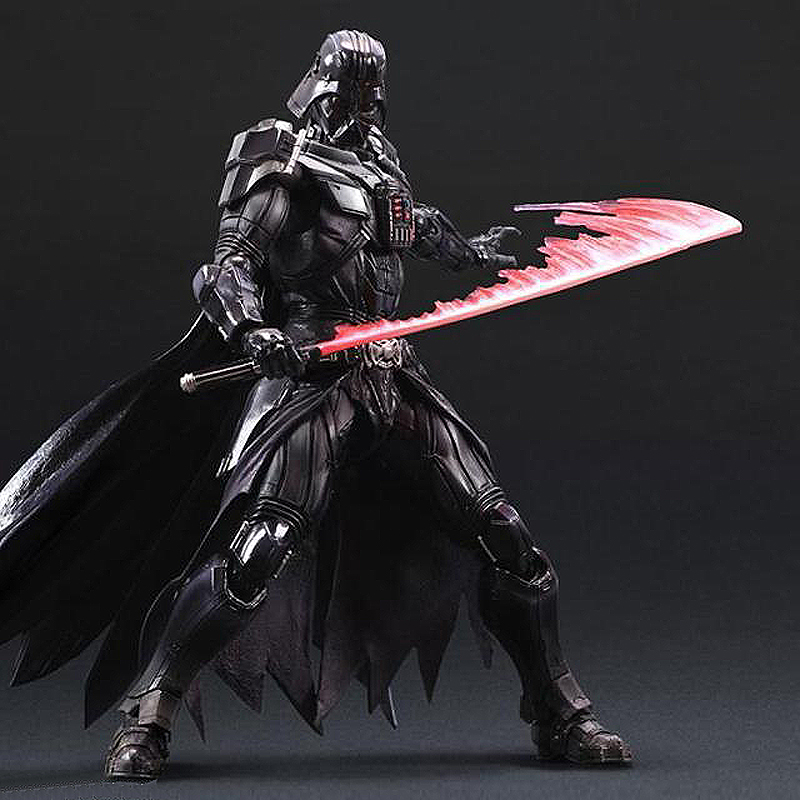 28cm Play Arts Kai Movable Figurine Star Wars Darth Vader PVC Action Figure Toy Doll Kids Adult Model Gift 27cm play arts kai movable figurine superhero thor odinson pvc action figure toy doll kids adult collection model gift
