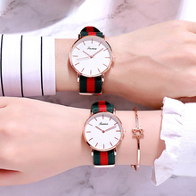 Hot Fashion Lovers Watches Men Women Casual Leather Strap Qu