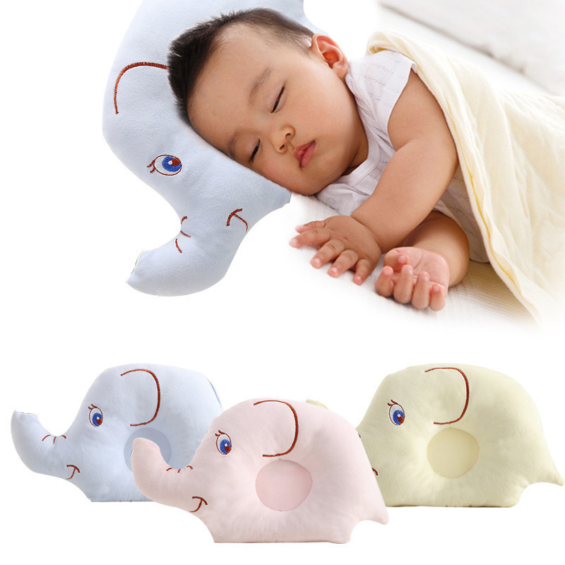 Newborn Baby Shaping Pillow Soft Velvet Fabric Cartoon Stereotypes Cute Pillow Anti-rollover Neck Protection Baby Sleep Bedding