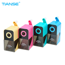 TIANSE Manual Pencil Sharpener Office Stationery Mechanical Desktop Accessory Case for Student School Supplies