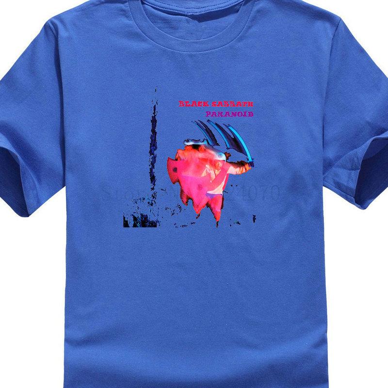 Custom Tee Shirts Men 39 S Short Sleeve New Black Sabbath Motion Trails Paranoid Album Crew Neck Zomer T Shirts in T Shirts from Men 39 s Clothing