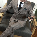 2017 new arrival plus size 5xl plaid casual male suit set mens suits wedding groom formal dress work terno masculino /XF47