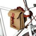 Tourbon Vintage Leinwand Fahrrad Top Rohr Taschen Bike Rahmen Tasche Radfahren Pannier Zwei Beutel Multi-funktion Bike Zubehör