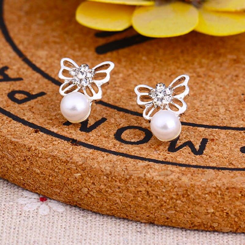 1 пара Горячая Multi-стиль серебристый Модные прозрачные жемчуг Камни Серьги-гвоздики для Для женщин Обувь для девочек милые сердцу подарок