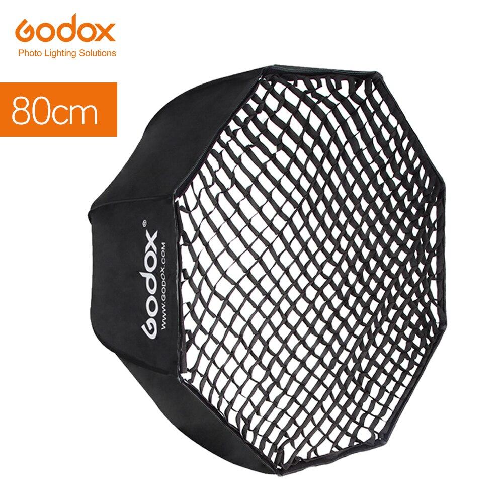 Софтбокс Godox 80 см 32 зонтик + сетка с ячейками в виде сот Octagon Отражатель софтбокс вафельная Softbox для TT685 V860II вспышка Speedlight