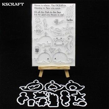 KSCRAFT Mare Animali Timbro Metallico Fustelle Stencil per il FAI DA TE Scrapbooking/album di foto Decorative Goffratura Carte di Carta FAI DA TE 121