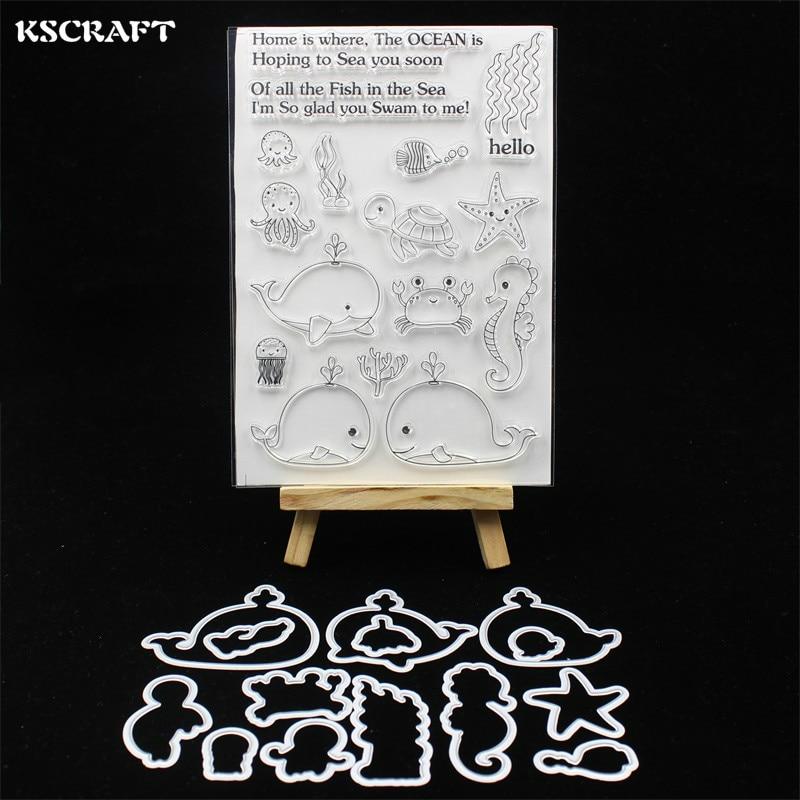 KSCRAFT Sea Animals Stamp Metal Cutting Dies Stencils for DIY Scrapbooking/photo album Decorative Embossing DIY Paper Cards 121KSCRAFT Sea Animals Stamp Metal Cutting Dies Stencils for DIY Scrapbooking/photo album Decorative Embossing DIY Paper Cards 121