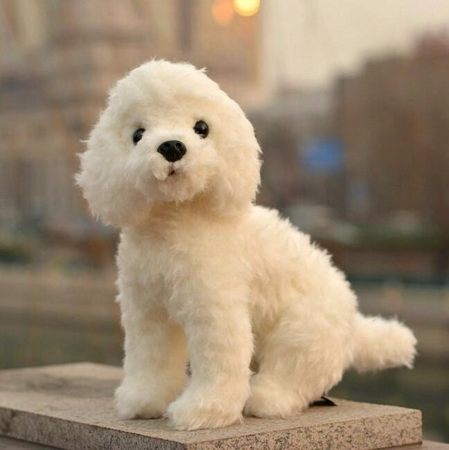White  Teddy  Dog Doll  Plush   Animal stuffed  kids toys  Can Be Sound  SittingWhite  Teddy  Dog Doll  Plush   Animal stuffed  kids toys  Can Be Sound  Sitting
