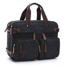 Lona dos homens do vintage casual maleta homem de negócios ombro mensageiro bolsa masculino mensageiro sacos crossbody