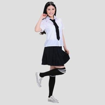 7b0dcb32f Conjunto de uniformes japoneses y coreanos camisa blanca de verano + falda  Dolly + traje de marinero de corbata uniforme de estudiante escolar para  niñas