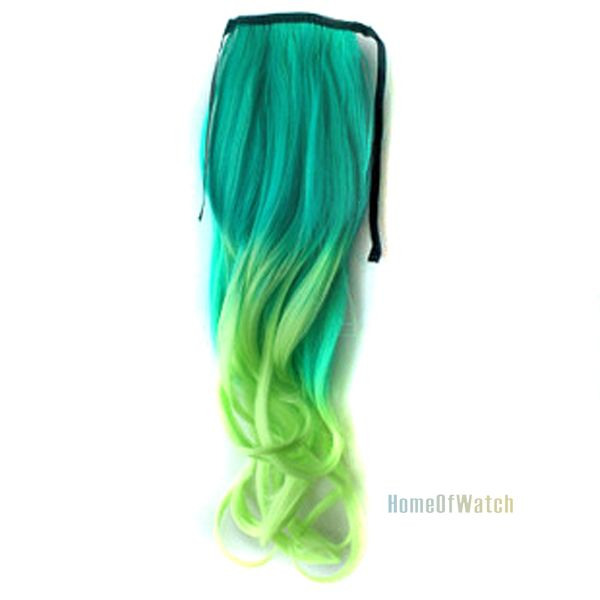 fashion green light curly