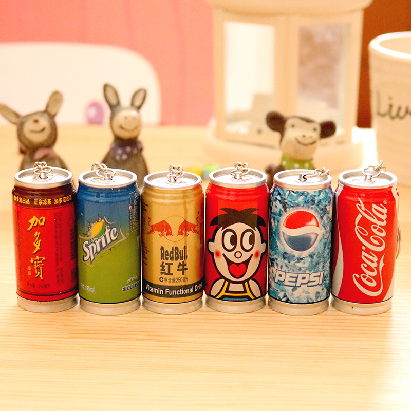 1pc Portable Retractable Creative Drink Wang Tsai, Sprite, Coke Variety Of Pens Cute Student Stationery School Office Supplies