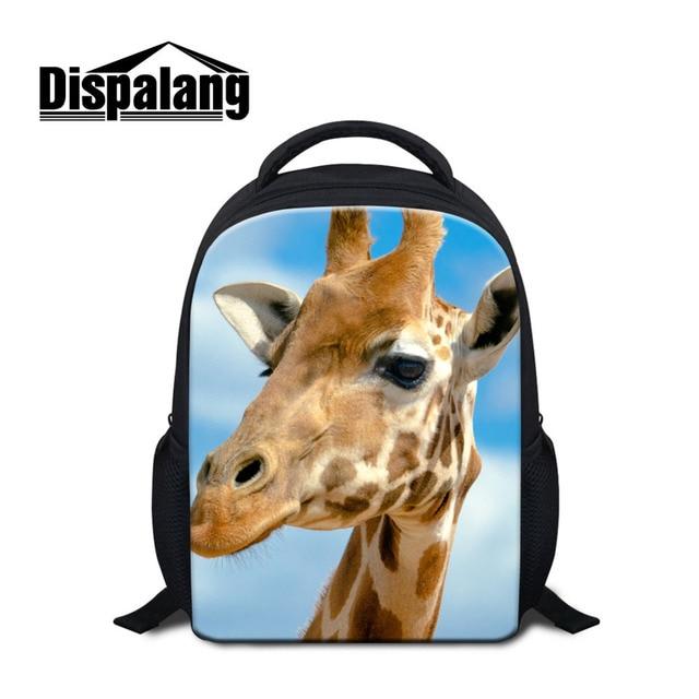Dispalang Animal Print Small School Bags For Boys Girls Giraffe Elk kindergarten Mini Backpack Kids Book Bags Mochila Escolar