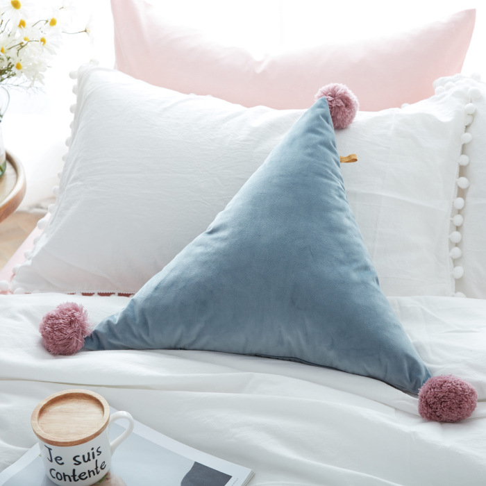 Высокое качество домашнего декора ручной работы Треугольники форме подушки роскошный большой Декоративные диванные подушки на продажу!