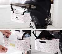 Carrinho de bebê organizador saco de transporte carrinho de bebê carrinho de bebê guarda-chuva carro acessórios brinquedos armazenamento berço organizador brinquedo fralda bolso