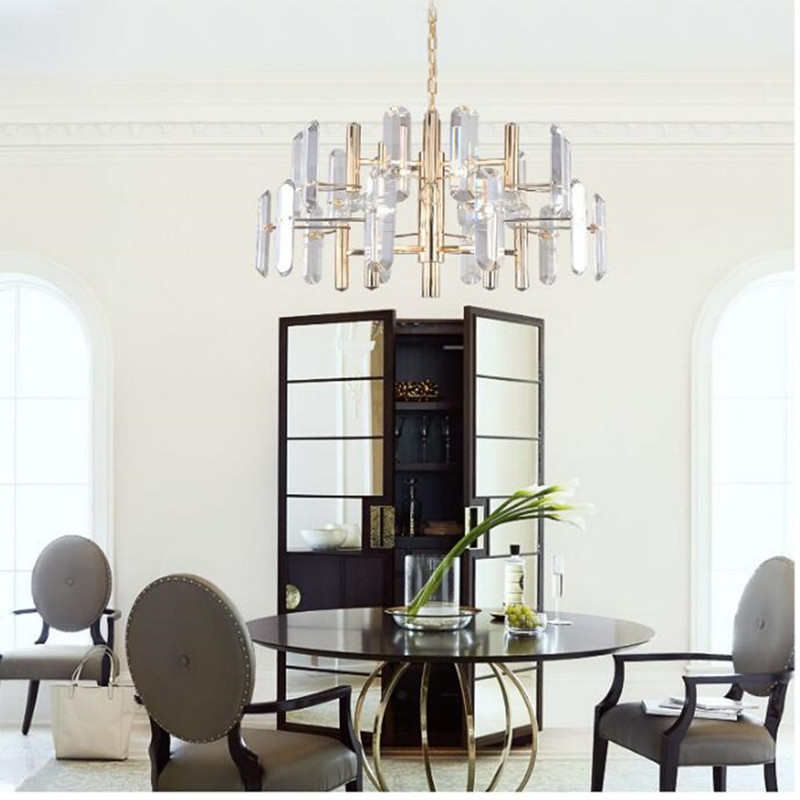 цена на Modern Creative Villa Gold Crystal Chandelier Luxurious Clubhouse Dining Room Hotel Hanging Light Fixtures Free Shipping