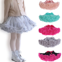 New Girl S Tutu Skirt 1pc Baby Dance Cake Princess 6 Layers Skirts Cotton 15 Colors