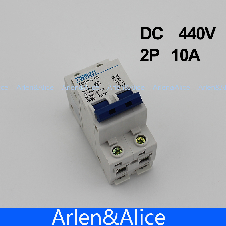 2P 10A DC 440V Circuit breaker MCB C curve