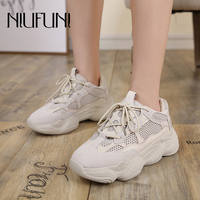 NIUFUNI Genuine Leather Casual Shoes Woman Brand White Shoes Sport Sneakers Cross Tied Shoes Zapatos Corrientes De Verano