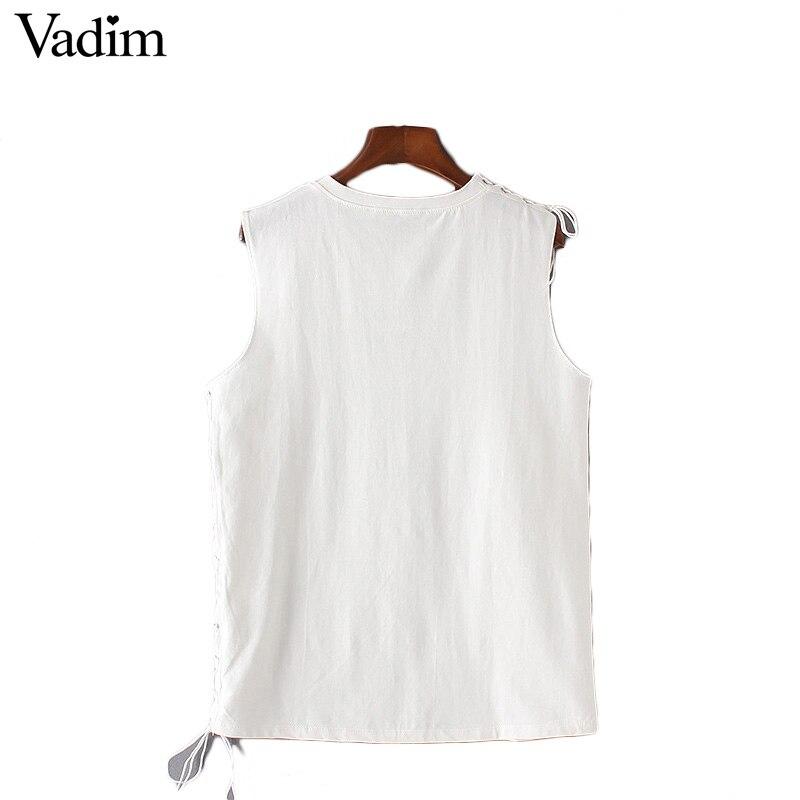 Vadim женщины элегантный кружева длинные футболки черный белый рукавов о шея основные тройники дамы лето стильный топы camisetas WT413
