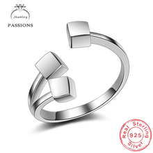 Fashion Top Quality Silver Plate Rings Open Wide Adjustable Ideal Square Geometry Rings For Women/Girl Jewelry Bague Rings