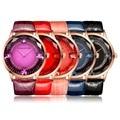 Элегантный Современных Женщин Горный Хрусталь Кварцевые Часы Lady Повседневная Кожа Наручные Часы 5 Цвет 2 Размер Новый Горячий Продавать