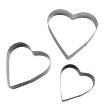 цена на TTLIFE 3PCS Heart Shaped Cookie Cutter Set Stainless Steel Egg Baking Mould Fondant Sugarcraft Biscuit Mold Cake Decorating Tool