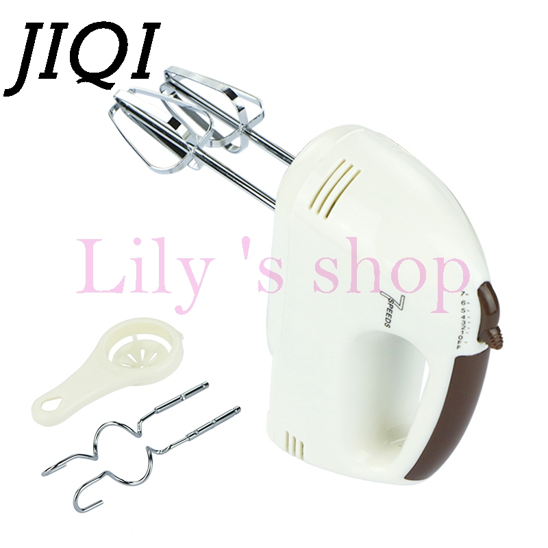 JIQI Electric household mini baking cream mixer Multifunctional 7 speeds food mixers milk shake whisk the egg yolks knead dough agent provocateur бюстгальтер купальника lolly