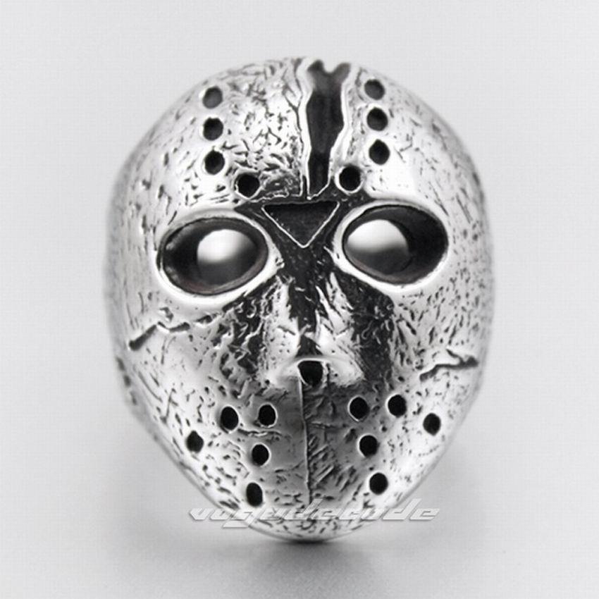 f5d07d3fae03 316l Acero inoxidable Halloween Jason Mask Hockey mens biker Rocker punk  anillo r019