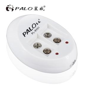 Image 5 - PALO 2 Slot 9V Akku Ladegerät für Ni Mh Ni CD 9V Batterien