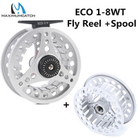 Maximumcatch 5 6WT Fly Reel Large Arbor Aluminum Fly Fishing Reel With Reel Bag