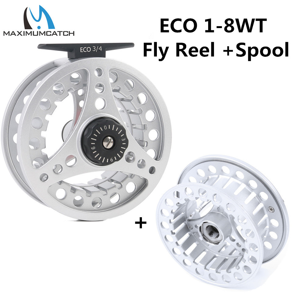 Maximumcatch ECO 1 2 3 4 5 6 7 8WT Fly Reel Large Arbor Aluminum Fly