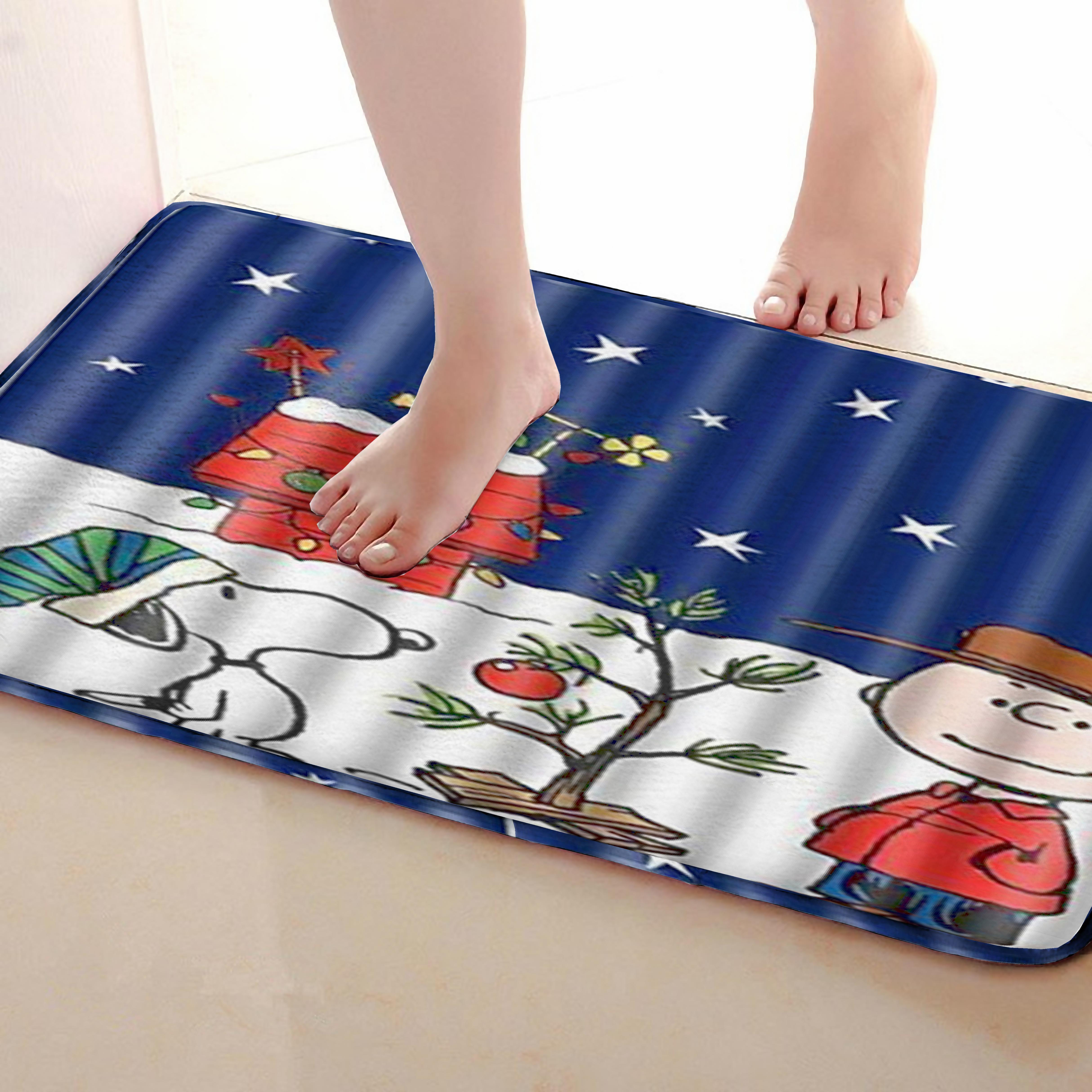 Cartoon Style Bathroom Mat,Funny Anti Skid Bath Mat,Shower Curtains Accessories,Matching Your Shower Curtain
