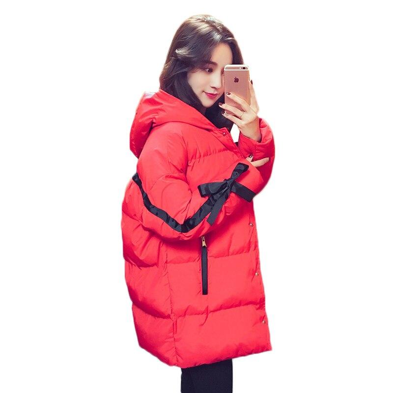 Women down jacket 2018 new winter jacket female hooded down cotton coat ladies Harajuku bread service warm winter cotton parka 2017 winter new ladies down jacket