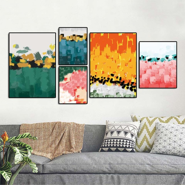 wall art canvas posters prints nordic paintings picture for living