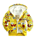 New 2017 Children's cartoon jacket baby & kids SpongeBob thick Hoodies sweatshirts girls Warm coat boys outerwear in stock