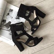 Women Sandals Gladiator High Heels Strap Pumps