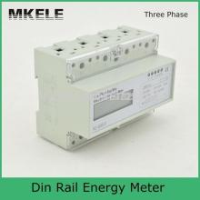 цена на MK-LEM021JC Three phase Din rail KWH Watt hour din-rail energy meter LCD