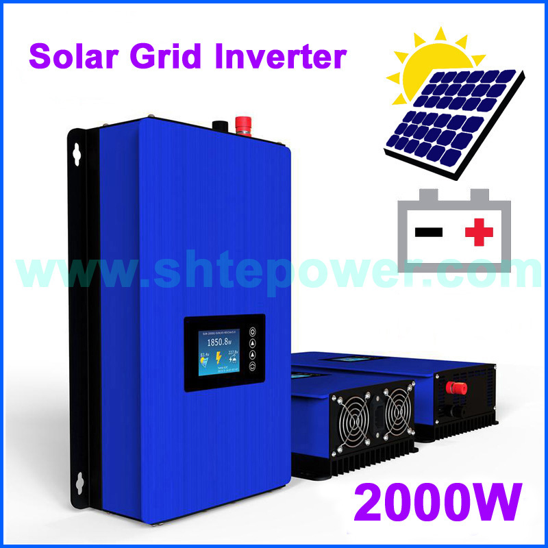 2000W 1000W Battery Discharge Power Mode/MPPT Solar Grid Tie Inverter with LCD dispaly DC 45-90V AC 220V 230V 240V PV connected new grid tie mppt solar power inverter 1000w 1000gtil2 lcd converter dc input to ac output dc 22 45v or 45 90v