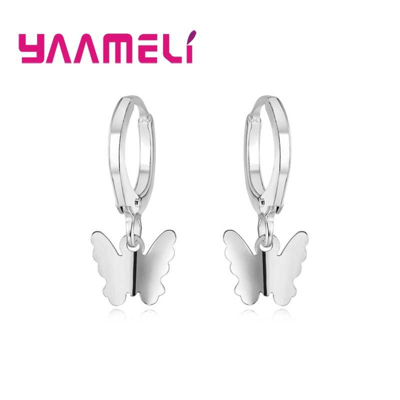 2019 New Trendy Solid 925 Sterling Silver Women Dangle Drop Earrings Pure Metal Jewelry for Friendship Gift Cute Lovely Designs