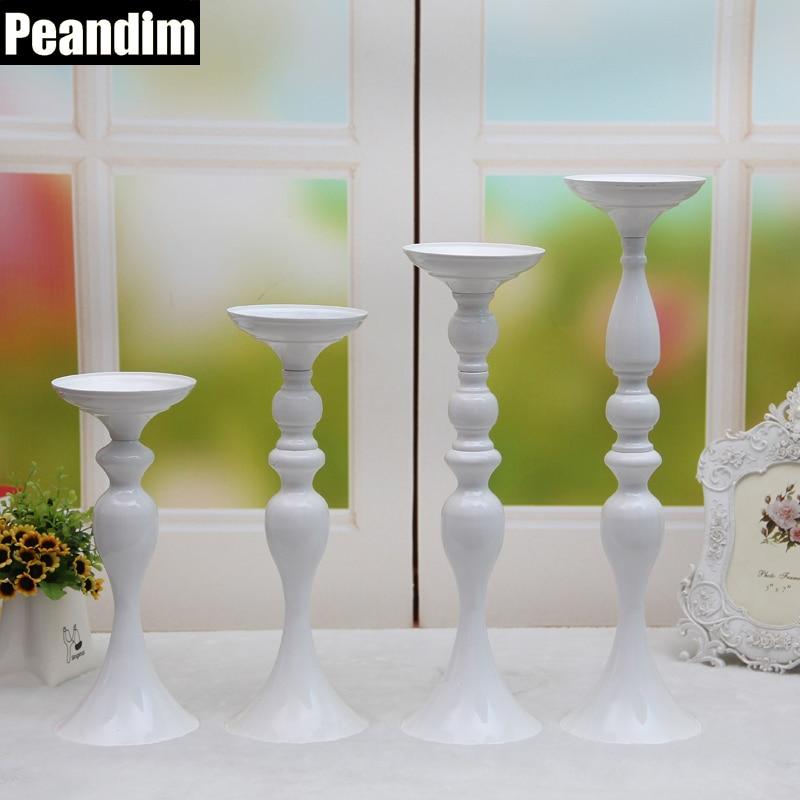 PEANDIM 50cm magasságú gyertyatartó állvány virággal váza - Lakberendezés