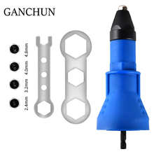 GANCHUN  Electric Rivet Nut Gun  Rivet Nut Tool  Cordless  Rivets Drill Adapter  Rivet Drill  Bits Tool