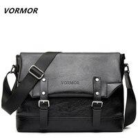 VORMOR Leather Men Bags Hot Sale Male Small Messenger Bag Man Vintage Crossbody Shoulder Bag Men