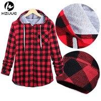 Fall Winter Men Women Plaid Hoodies Patchwork Hooded Sweatshirt Hip Hop Hoodies Men Streetwear Harajuku Men