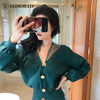 Early autumn jacket new style temperament knitwear Korean version careful machine matching sweater women's fashion casual