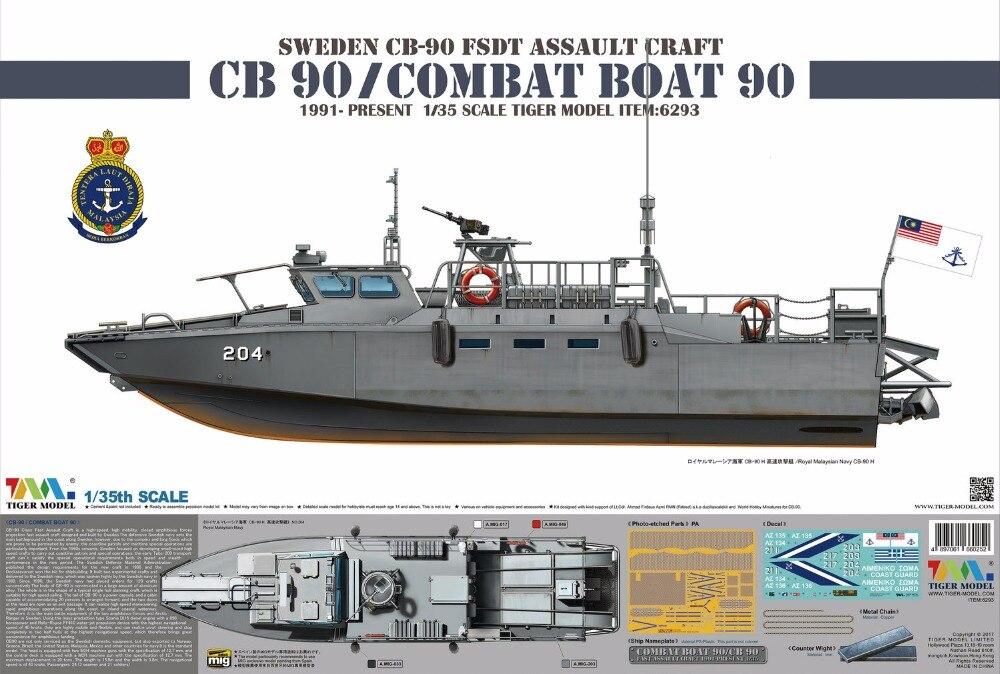 Tygrys Model 1/35 bojowe 6293 łodzi 90/CB90 w Zestawy modelarskie od Zabawki i hobby na  Grupa 1
